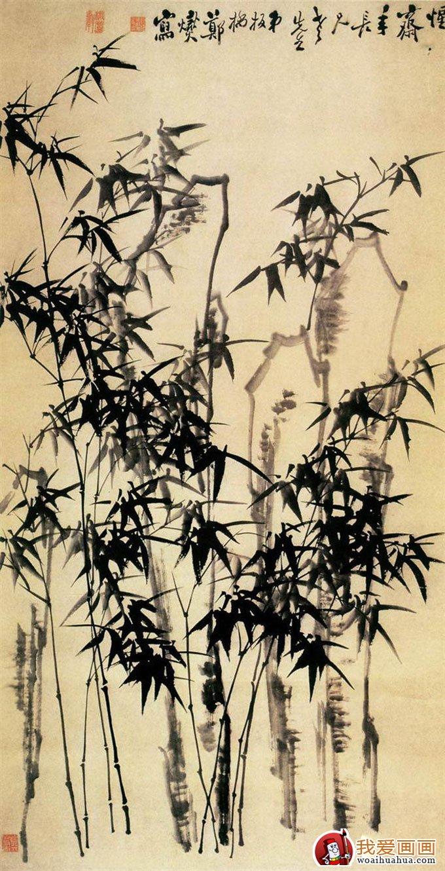 黑板报竹子花纹边框