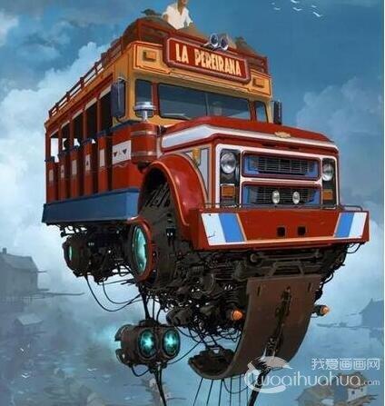 阿根廷画家天马行空的未来世界科幻插画作品欣赏