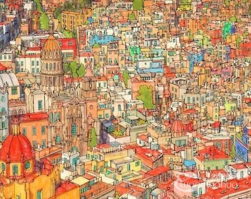 加拿大艺术家Steve McDonald的梦幻城市建筑绘本