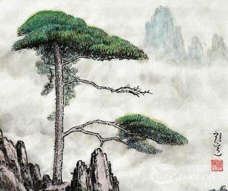 国画写意牡丹的画法步骤,牡丹的花朵叶子枝干画法(2)