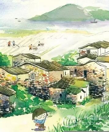 闽南老房子建筑手绘图片