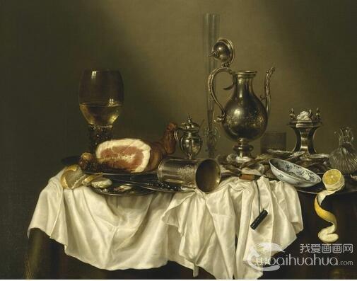 荷兰画家威廉・克莱兹・海达静物油画作品赏析