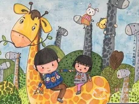 遇墨白在宁波经营着4家儿童画室,有一双可爱的儿女,儿子叮当6岁,女儿