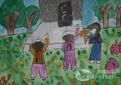 水彩笔科幻画 我心中的城堡 金鹰杯儿童画大赛参赛作品