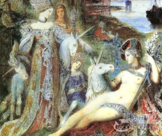法国象征主义画家古斯塔夫・莫罗人物油画作品赏析