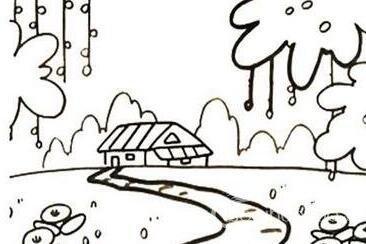 家乡的景色简笔画