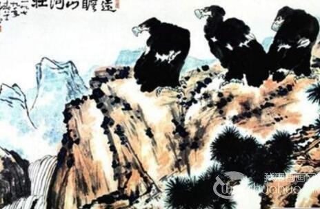 国画松树的画法:松柏松树水墨画图片大全69p之水墨黑白篇
