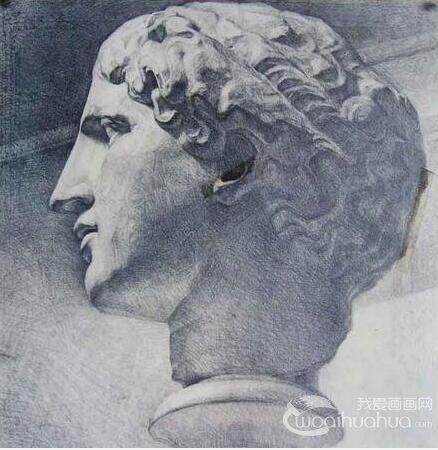 石膏像素描临摹作品欣赏