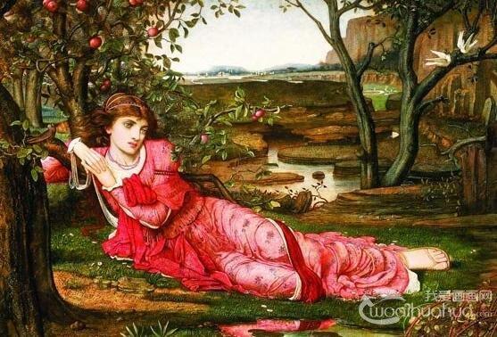 欧洲古典主义女性人物油画作品欣赏