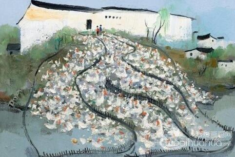 中国现代画家吴冠中风景油画作品欣赏