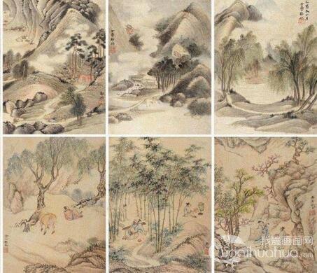 金陵八家邹喆山水风景国画作品欣赏