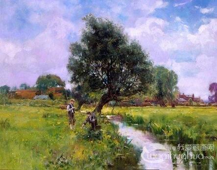 英国画家亨利约翰耶德金风景画欣赏