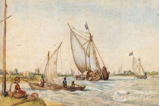 荷兰冬季风景画大师:亨利克.阿维坎普