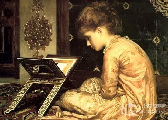 英国唯美主义画家弗雷德里克・莱顿人物油画作品