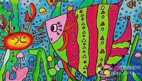 兒童科幻畫獲獎作品欣賞:熱鬧的海底世界