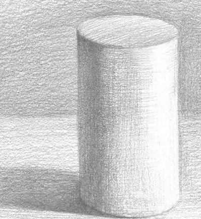 几何圆柱体素描素描教程详解