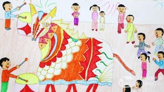 过新年儿童画 过新年儿童简笔画
