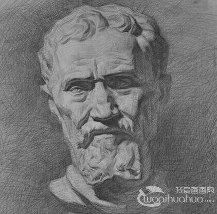 石膏像鼻子的素描画图片 各种鼻子素描 7图片