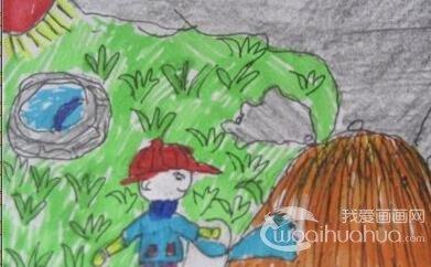 关于树叶的简笔画,各种树叶简笔画图片 5