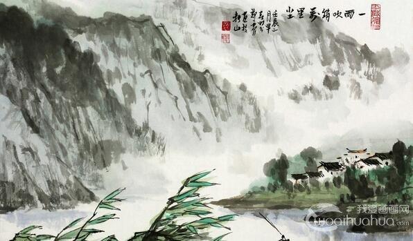 郑震水彩画:郑震山水画作品赏析