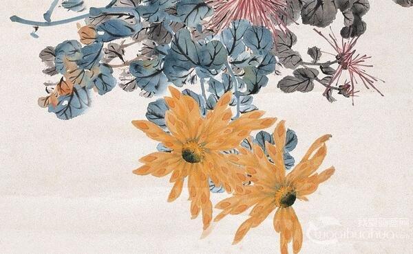 白描菊花的绘画步骤_国画教程