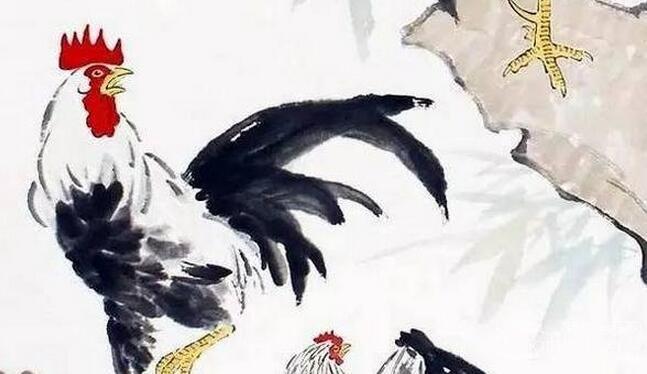 国画公鸡的绘画步骤_国画教程_学画画_我爱画画网