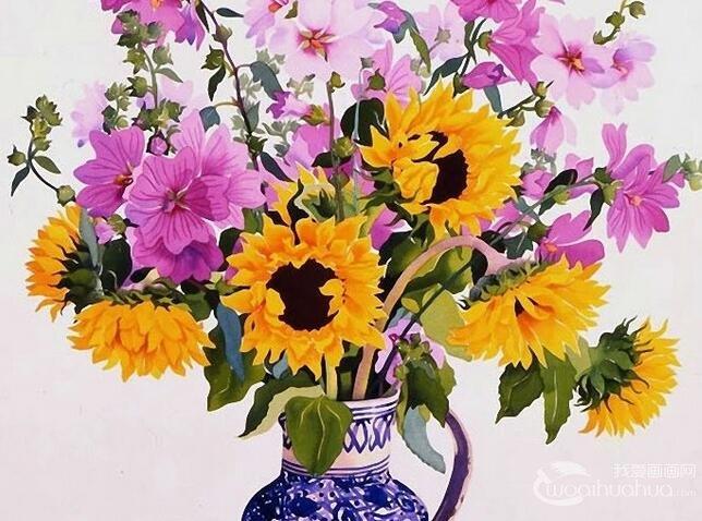 英国艺术家克里斯托弗Ryland水彩花卉赏析