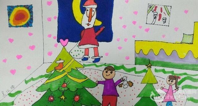 圣诞节主题可爱卡通画图片 5