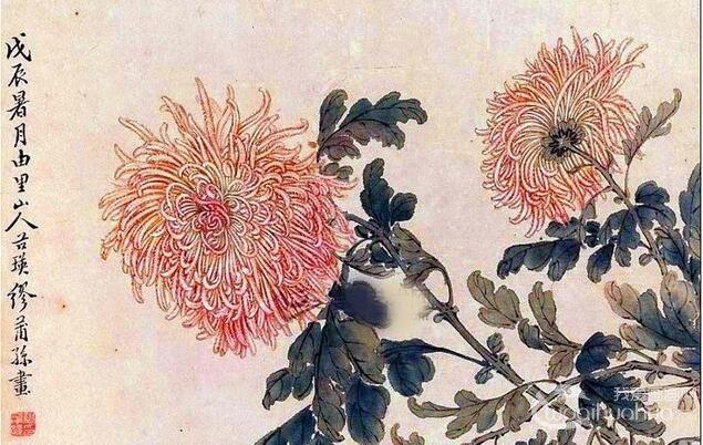 国画菊花:缪谷英菊花作品赏析