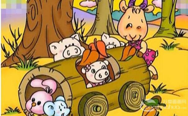 儿童画《森林里的动物》分解教程