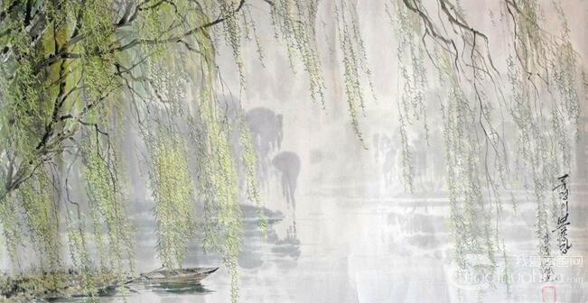柳树美术图片大全