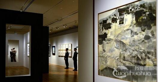 吴冠中作品展新加坡国家美术馆开展