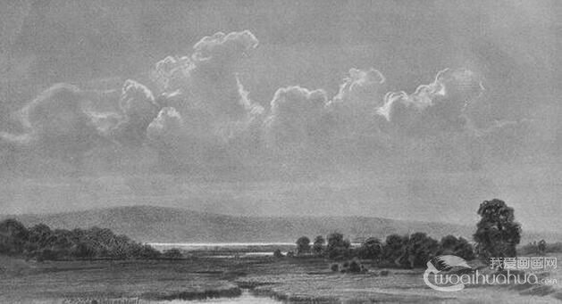 著名画家希施金素描风景画欣赏
