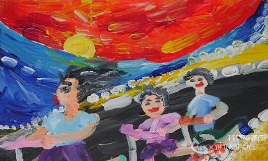 第六届海峡两岸少儿美术大展福州展开幕