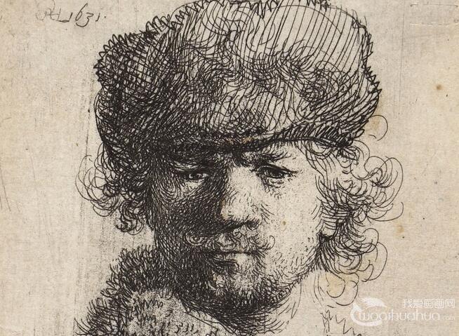 伦勃朗自画像:素描头像作品欣赏