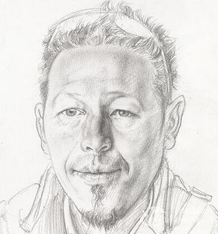 忻东旺速写人物头像作品欣赏