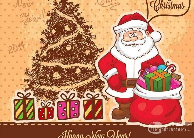 圣诞树简笔画图片大全,各种各样的简笔画圣诞树(3)