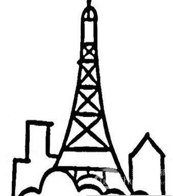 埃菲尔铁塔简笔画图片
