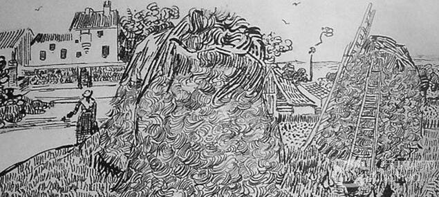 乡村风景素描作品赏析(6)_素描教程_学画画_我爱画画网