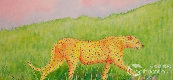 儿童学画画:风车水粉画作品欣赏