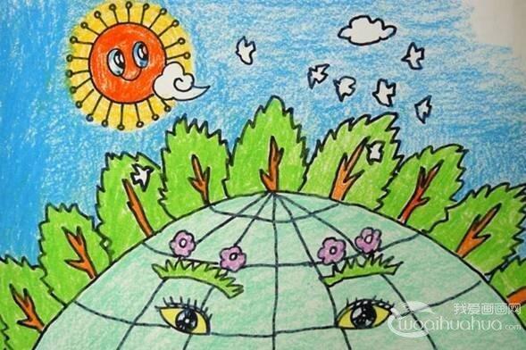 豆贴画作品大全_儿童画绿色家园作品欣赏