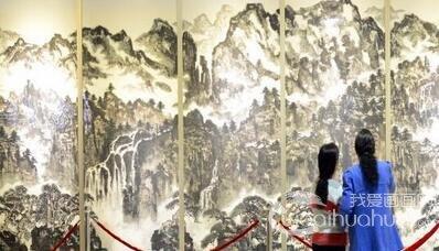 中国北派山水画家李才旺60幅佳作捐献家乡美术馆