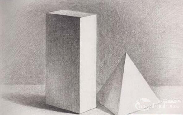 素描入门:初级素描学习从画几何体开始