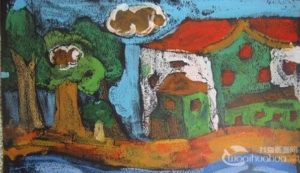我的家乡儿童版画作品欣赏