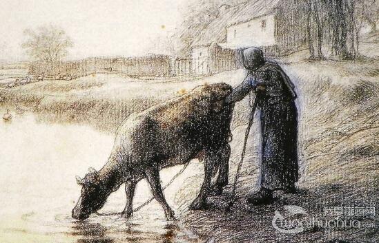 名画家米勒素描作品欣赏
