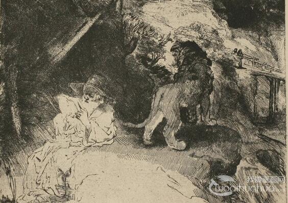 名画家伦勃朗场景素描作品欣赏