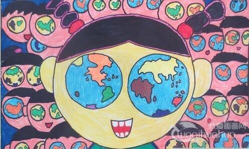 届少儿手绘地图大赛获奖作品-环保儿童画获奖作品,儿童环保绘画比图片