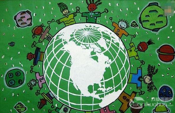 环保手抄报图片 保护地球爱护环境手抄报资料_儿童画