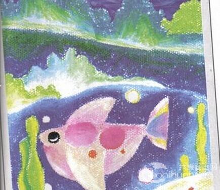 儿童画画教程:深海里的鱼油画棒画法步骤讲解