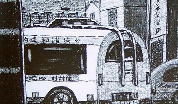 中央美术学院建筑素描图片欣赏